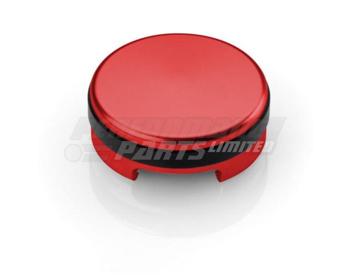 Rizoma Clutch fluid cap, Red - 37 mm, thread M34x4 mm