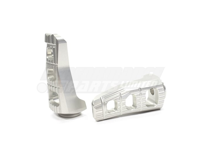 Gilles Touring Footpegs (Gilles Folding Joints required for fitment) - Silver (Other Colours Available)
